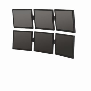 Bretford Double Level Multiple Displays Small Flat Panel Wall Mounts