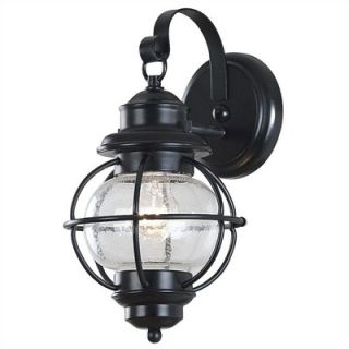 Kenroy Home Hatteras Small Wall Lantern In Black