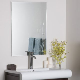 Decor Wonderland Flora Frameless Wall Mirror
