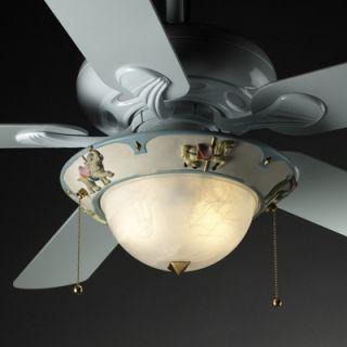 Justice Design Group Kids Room Two Light Bowl Ceiling Fan Light Kit