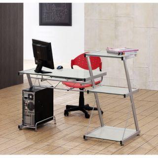 Tier One Designs Corner Computer Desk with Glass Top   T1D 121