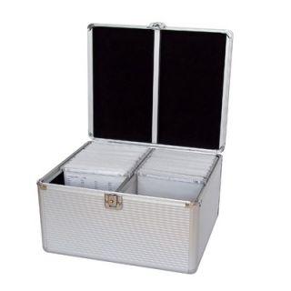 Aluminum Like Hard CD Case in Silver   300 Disc Capacity   901 116