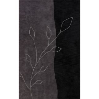 Dalyn Rug Co. Studio Black Leaves Rug