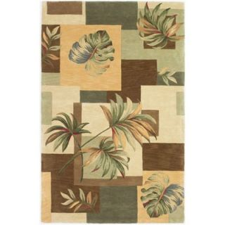 KAS Oriental Rugs Colonial Ivory/Gold Floral Tapestry Rug