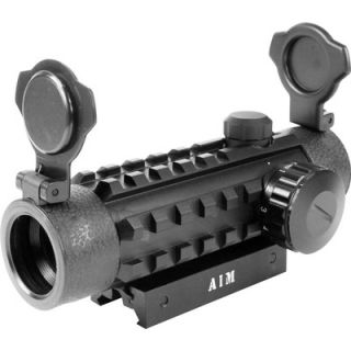 Aim Sports Dual Illuminated Dot with Integral Weaver Rails in Red