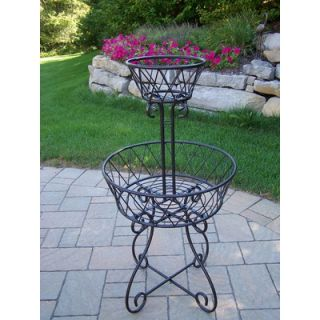 Oakland Living 2 Tier Round Basket Planter