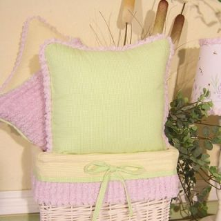 Brandee Danielle Froggy Lavender Green Decorator Pillow