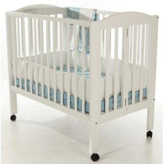 Dream On Me 2 in 1 Portable Folding Crib in White