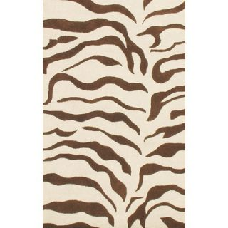 nuLOOM Earth Zebra Print Brown Rug   N302ZEBBRN