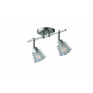 Triarch Lighting Milan Vanity Light in Brushed Steel