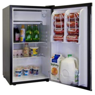 Haier 3.2 Cu. Ft. Refrigerator/Freezer in Black   HNSE032BB