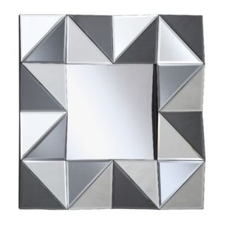 Crestview All Glass Square Wall Mirror   CVMRA278