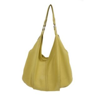 Piel Ladies Large Hobo Bag in Yellow