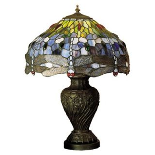 Warehouse of Tiffany Amber Turtle Accent Table Lamp