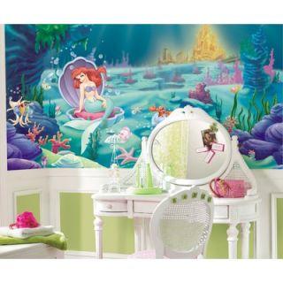 Room Mates XL Murals Littlest Mermaid Chair Rail Wall Decal