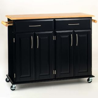 Home Styles Dolly Madison Kitchen Cart with Wood Top