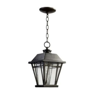 Quorum Baxter One Light Outdoor Pendant in Old World   765 8 95