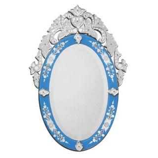 Venetian Gems Olympia Venetian Wall Mirror in Blue   VG 003 BLUE
