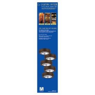 Disk Light Kit with Housing in Painted Antique Bronze   9890 171