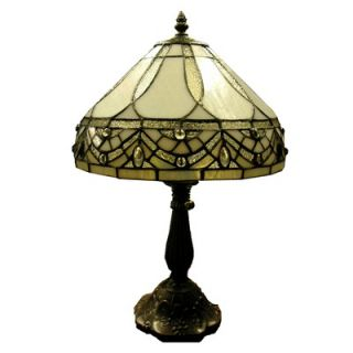 Warehouse of Tiffany White Jewels Table Lamp   1150+MB06S GG