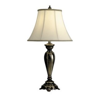 Dale Tiffany One Light Table Lamp in Antique Pewter