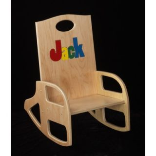 Hollow Woodworks Personalized Double Name Kids Rocking Chair RCD