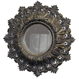 Imagination Mirrors Shield of Arms Round Framed Mirror in Antique