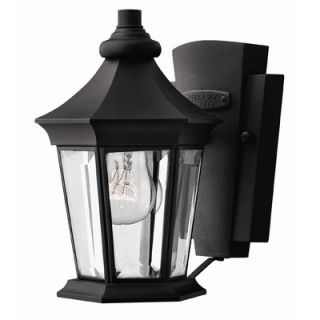 Hinkley Lighting Senator Small Outdoor Wall Lantern in Black
