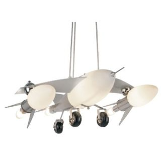 TransGlobe Lighting Fighter Jet 6 Light Pendant