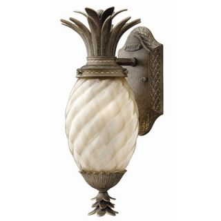 Hinkley Lighting Plantation Outdoor Wall Lantern in Pearl Bronze