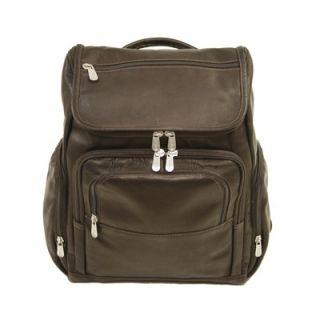 Piel Entrepreneur Multi Pocket Laptop Backpack in Chocolate   2834