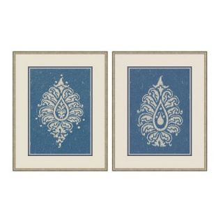 Big Fish Art Paisley Wall Art Collection in Blue