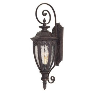 Savoy House Dehart Outdoor Wall Lantern in Bark and Gold   5 6522 52