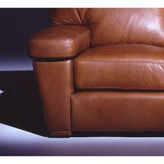 Omnia Furniture Prescott 4 Seat Sofa Leather Living Room Set   PRE