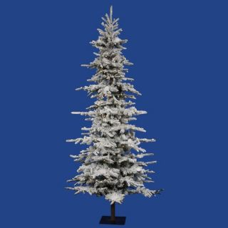 Flocked Georian Fir 9 Artificial Christmas Tree with LED Lights