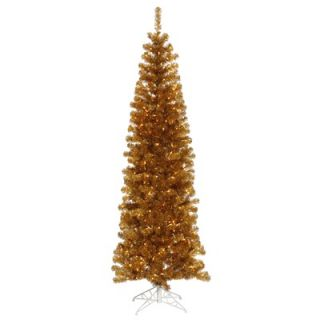 Vickerman 7.5 Artificial Pencil Christmas Tree with Clear Lights in