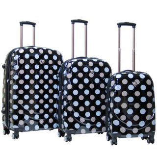 CalPak Montego Bay ABS Hardcase 3 Piece 4 Wheels Luggage Set
