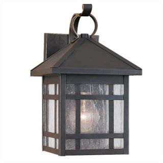 Sea Gull Lighting Largo Outdoor Wall Lantern in Antique Bronze