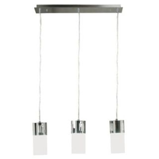 Kenroy Home Cylinder 3 Light Linear Island Pendant