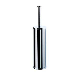 Geesa by Nameeks Circles Wall Mounted Toilet Brush Holder in Stainless