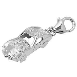 EZ Charms 14K White Gold Diamond Car Charm