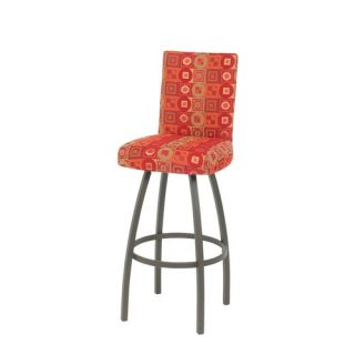 Quilted Faux Leather Adjustable Height Bar Stool in Black   212 851