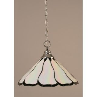 Toltec Lighting One Light Downlight Pendant with Pearl Flair Tiffany