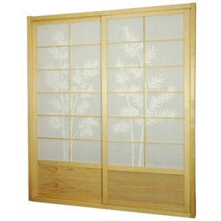 Oriental Furniture Bamboo Tree Shoji Sliding Door Kit in Natural