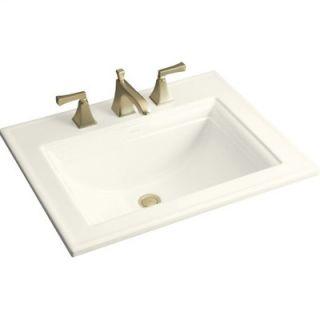Kohler Memoirs Self Rimming Bathroom Sink in Biscuit with Stately