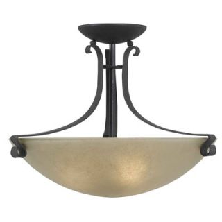 Kenroy Home Willoughby 3 Light Semi Flush Mount   91910FGRPH