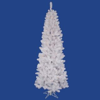 Vickerman White Salem Pencil Pine 7.5 Artificial Christmas Tree with