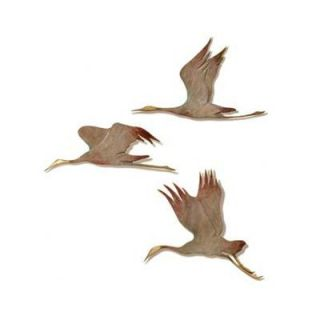 SPI Home Crane Wall Plaque (Set of 3)