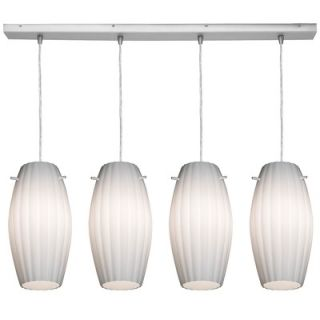 Access Lighting Boron Vanity Light with Opal Glass in Brushed Steel