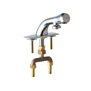 Chicago Faucets Single Hole Bathroom Faucet with Single Pump Handle